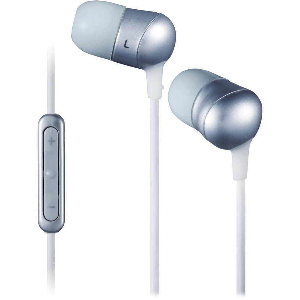 c4e5678cd04 JVC HA-FR50 Marshmallow In-Ear Stereo Headphones with Mic (Silver)
