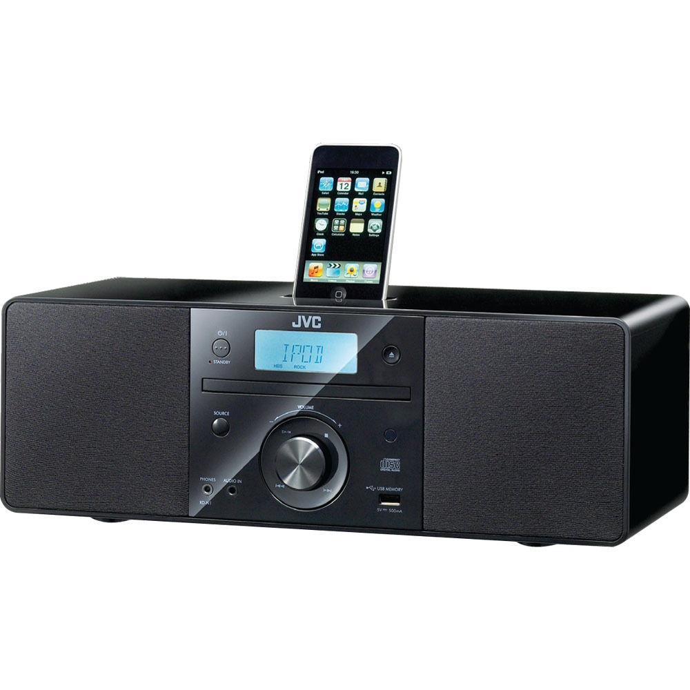 JVC RDN1 Micro System with CD and Top Mount iPod Dock RDN1 B&H