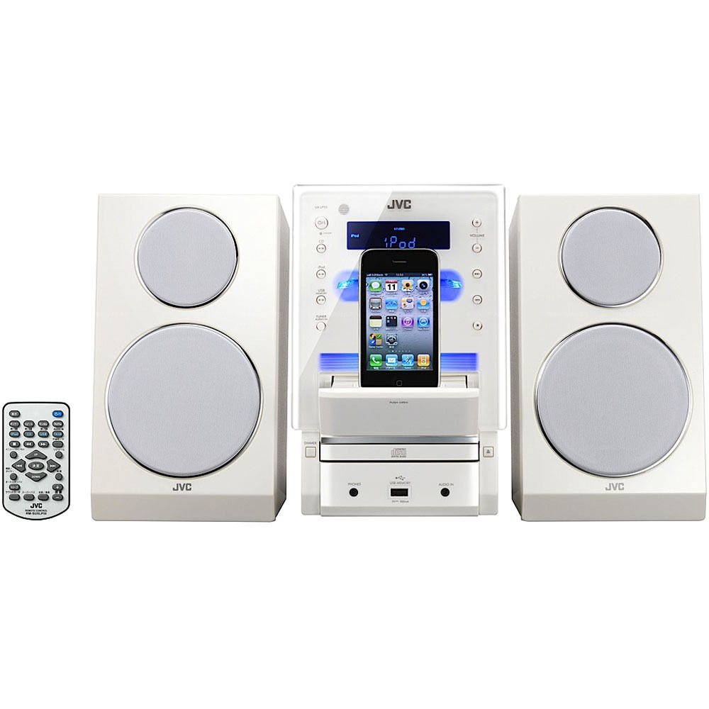 JVC UX-LP55 CD Micro Component System (White). iPod, iPad, or iPhone not  included