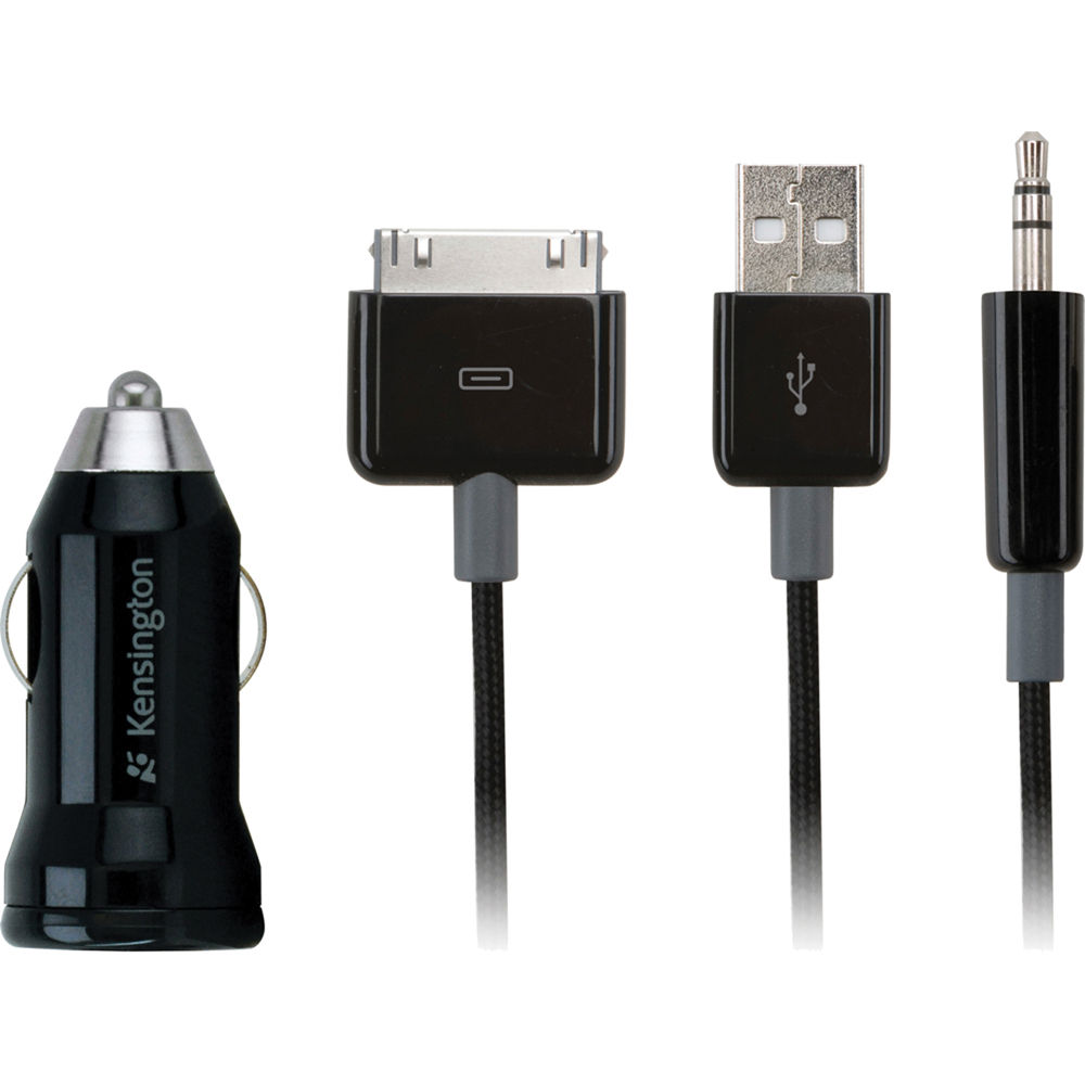 Kensington 2 In 1 Car Charger And AUX Audio Cable