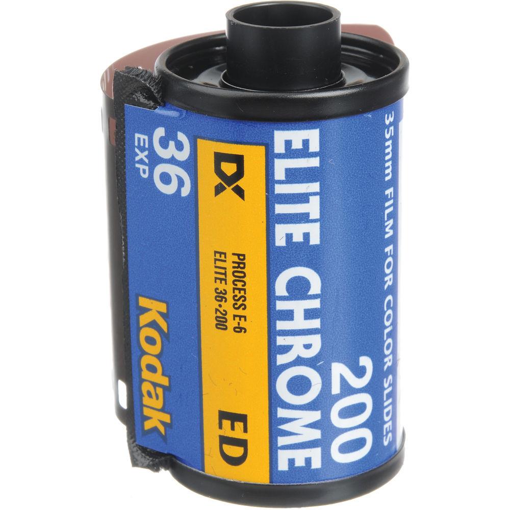 kodak ed 135 36 elite chrome 200 color slide film iso 200 b h