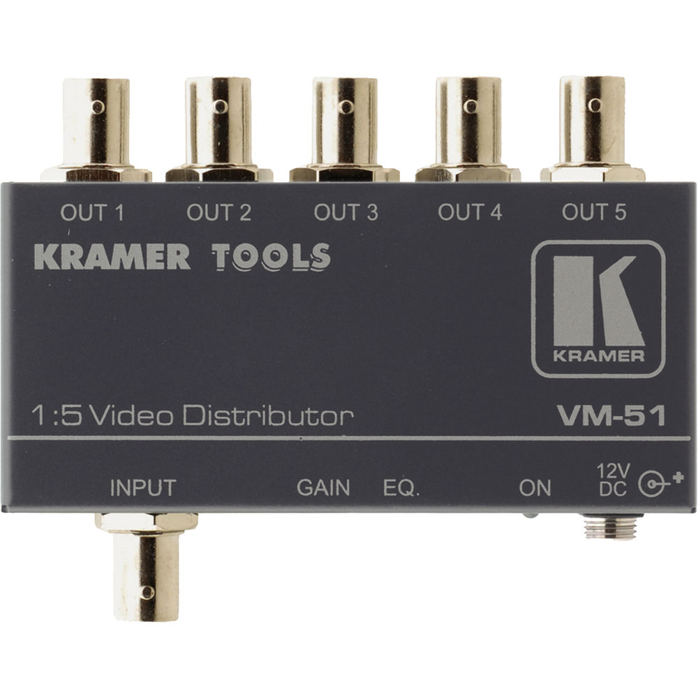 kramer vm 51 1x5 video distribution amplifier vm 51 b\u0026h photo
