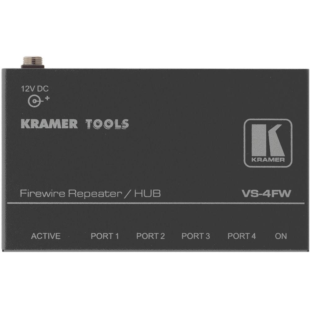 Kramer 4-Port FireWire-400 Repeater and Hub VS-4FW B&H Photo