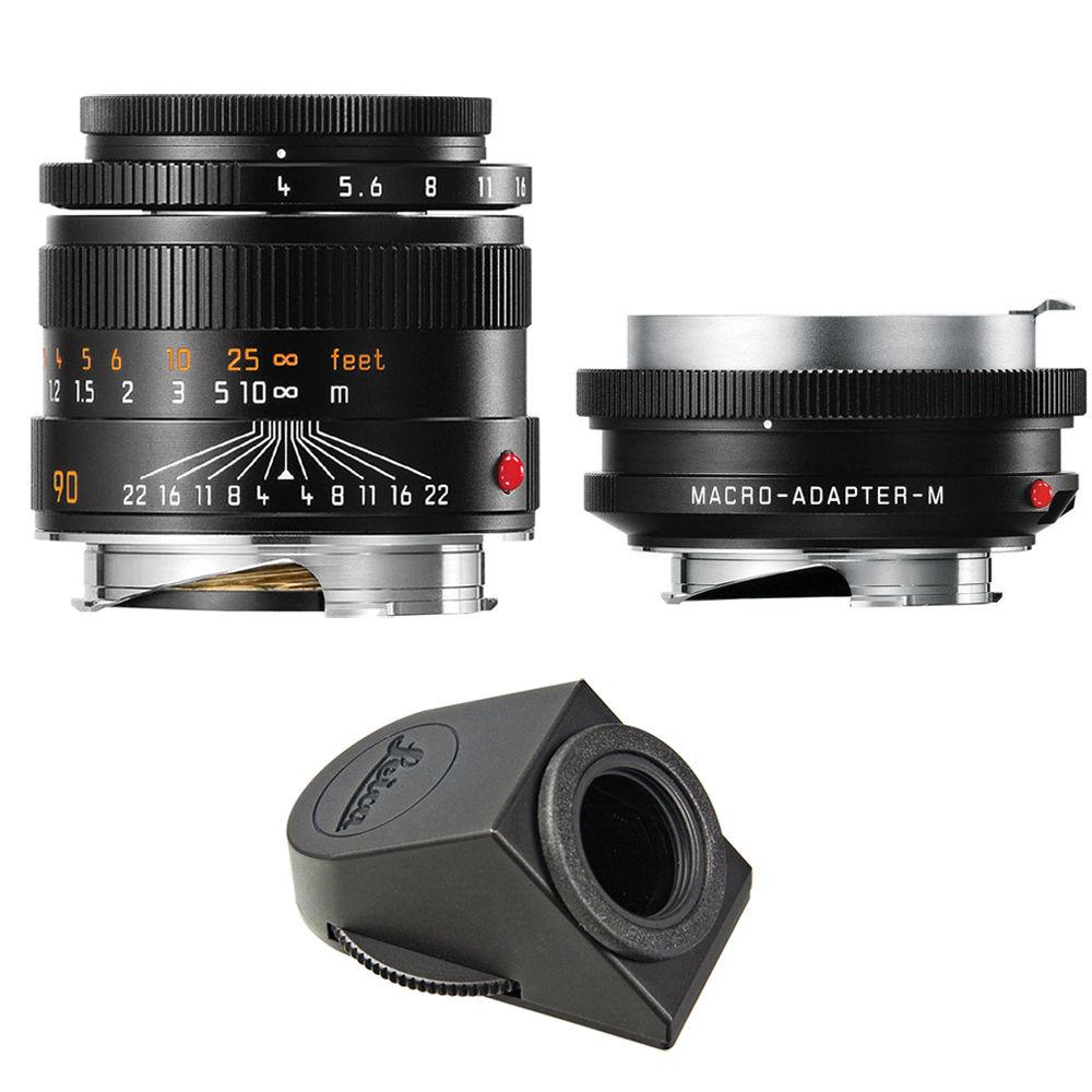 Leica Macro-Elmar-M 90mm f/4 Lens Set with Macro-Adapter