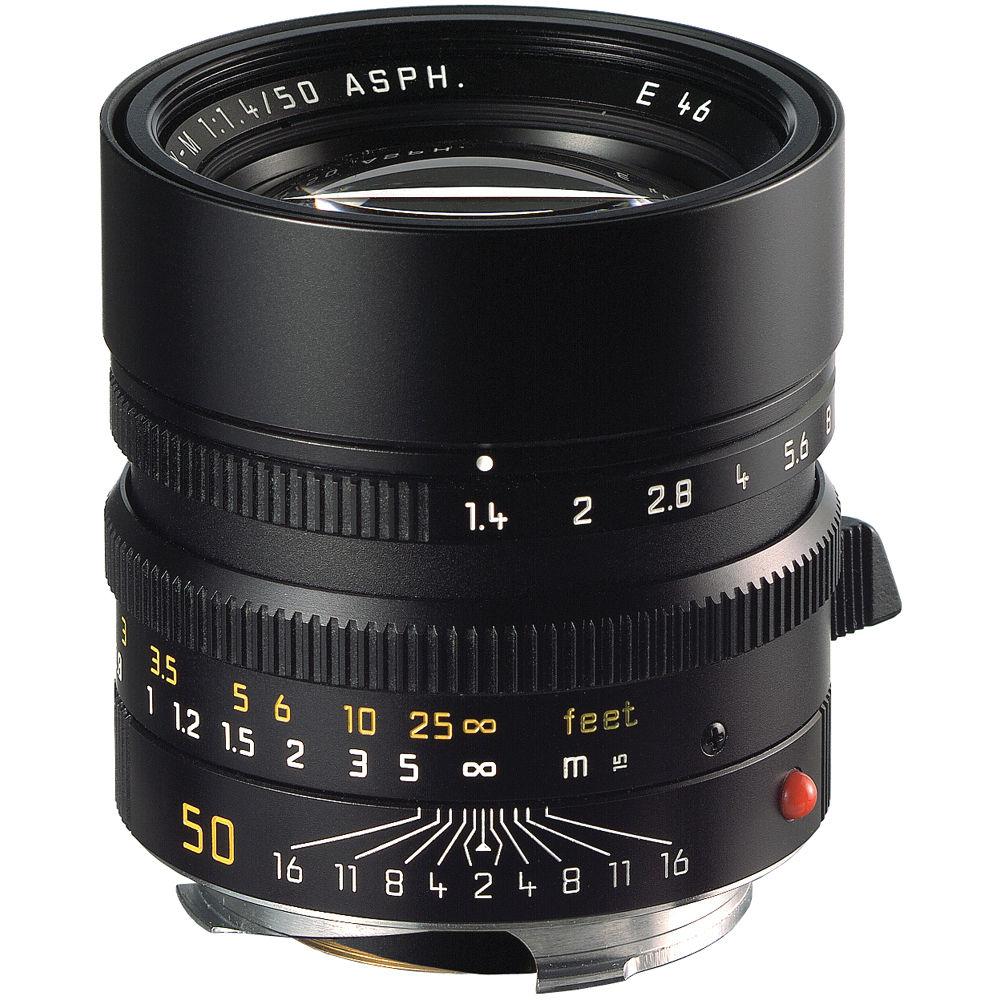 Leica summilux m 50mm f 1 4 asph lens black 11891 b h photo for Schreibtisch 1 50 m