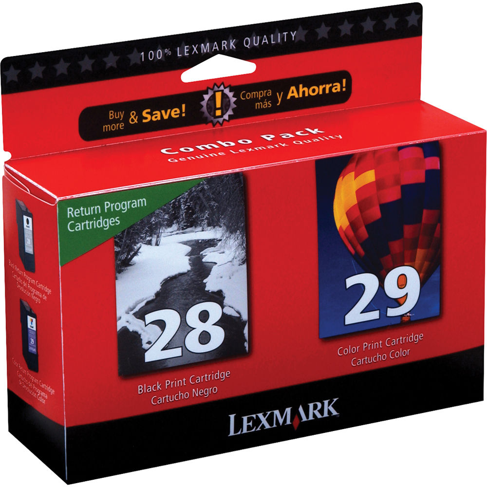 Lexmark 18C1590 28 29 Black And Color Ink Cartridges