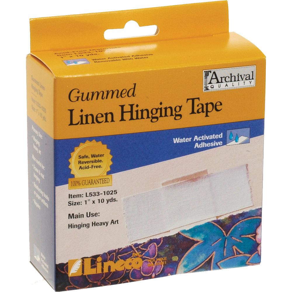lineco gummed linen hinging tape 1 x 30 l533 1025 b h