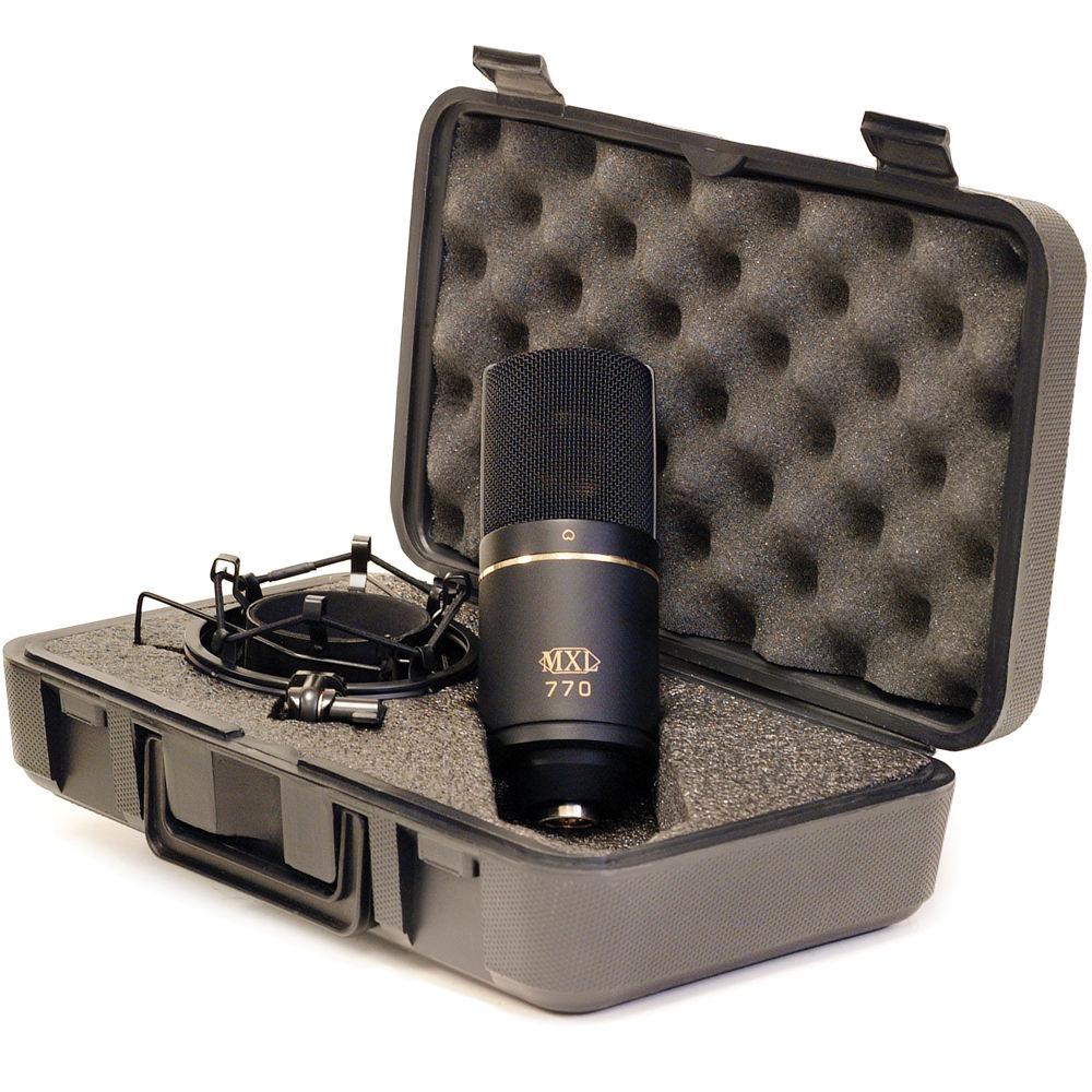 mxl 770 small diaphragm cardioid condenser microphone black. Black Bedroom Furniture Sets. Home Design Ideas