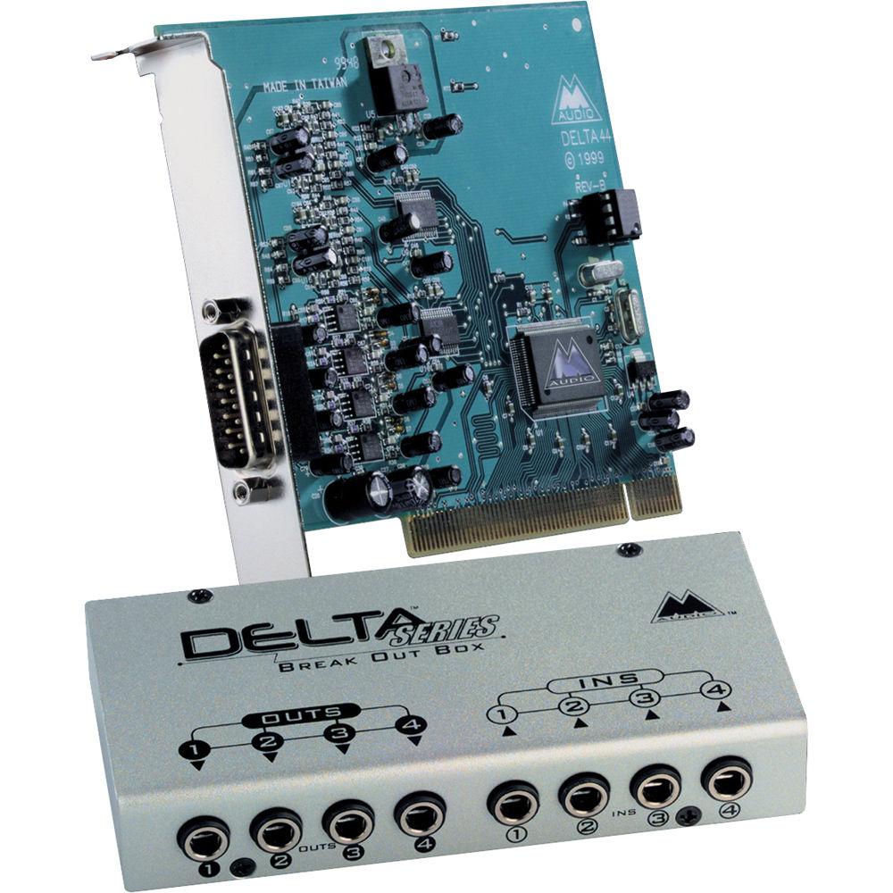 m audio delta 44 pci sound card 9900 50757 00 b h photo video