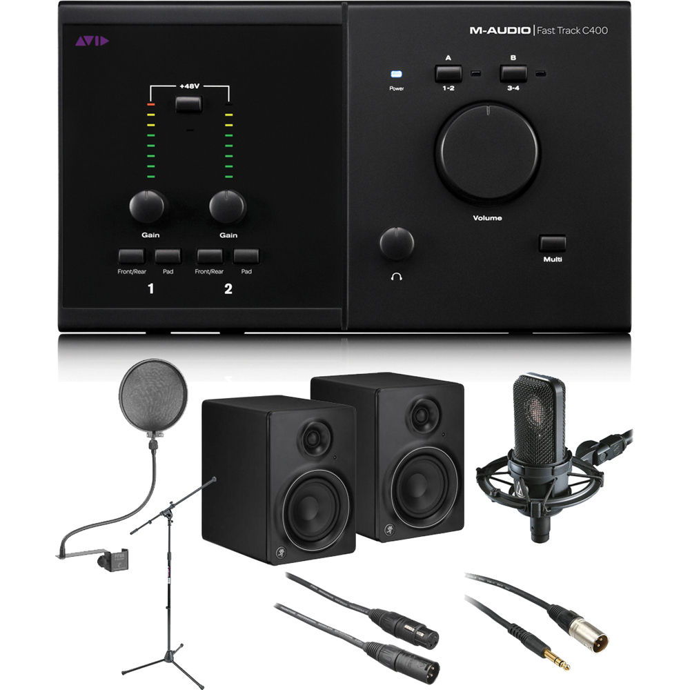 m audio fast track c400 recording package b h photo video. Black Bedroom Furniture Sets. Home Design Ideas