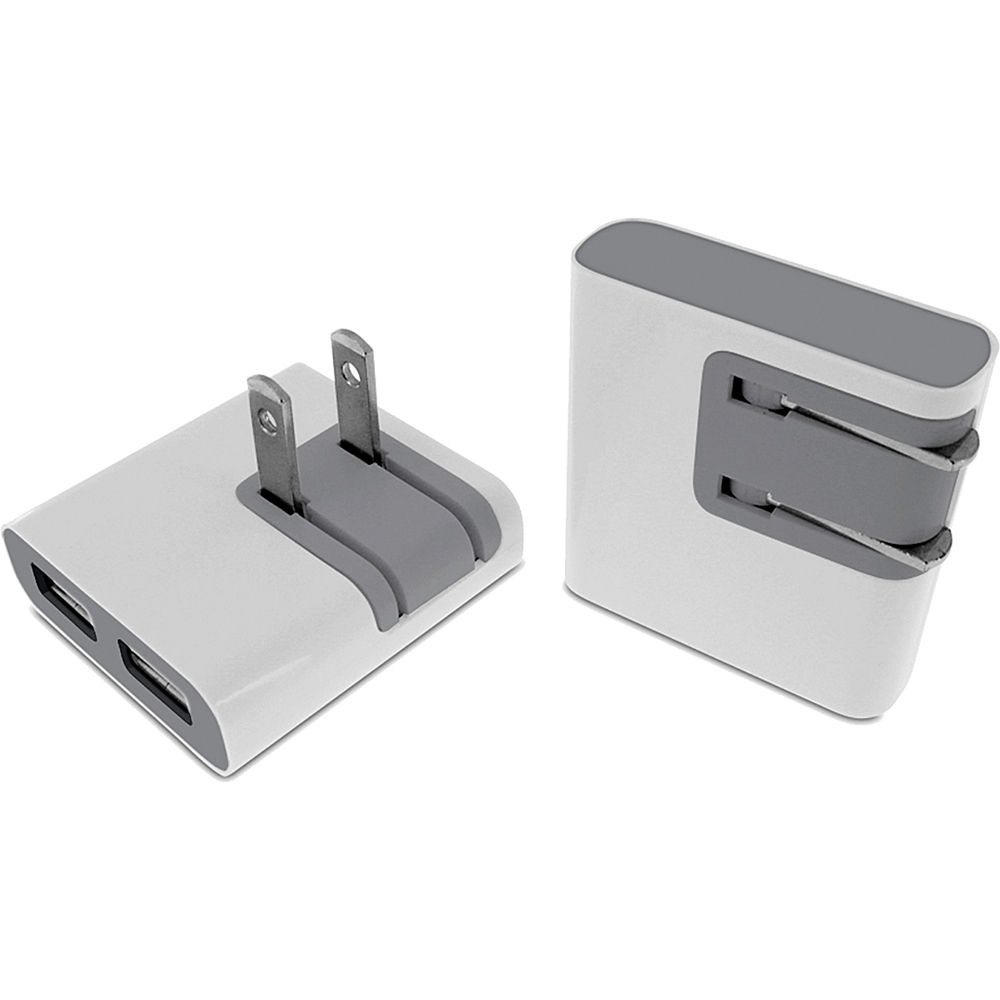 Macally Dual Usb Wall Charger For Apple Iphone 4 Dualusb B Amp H