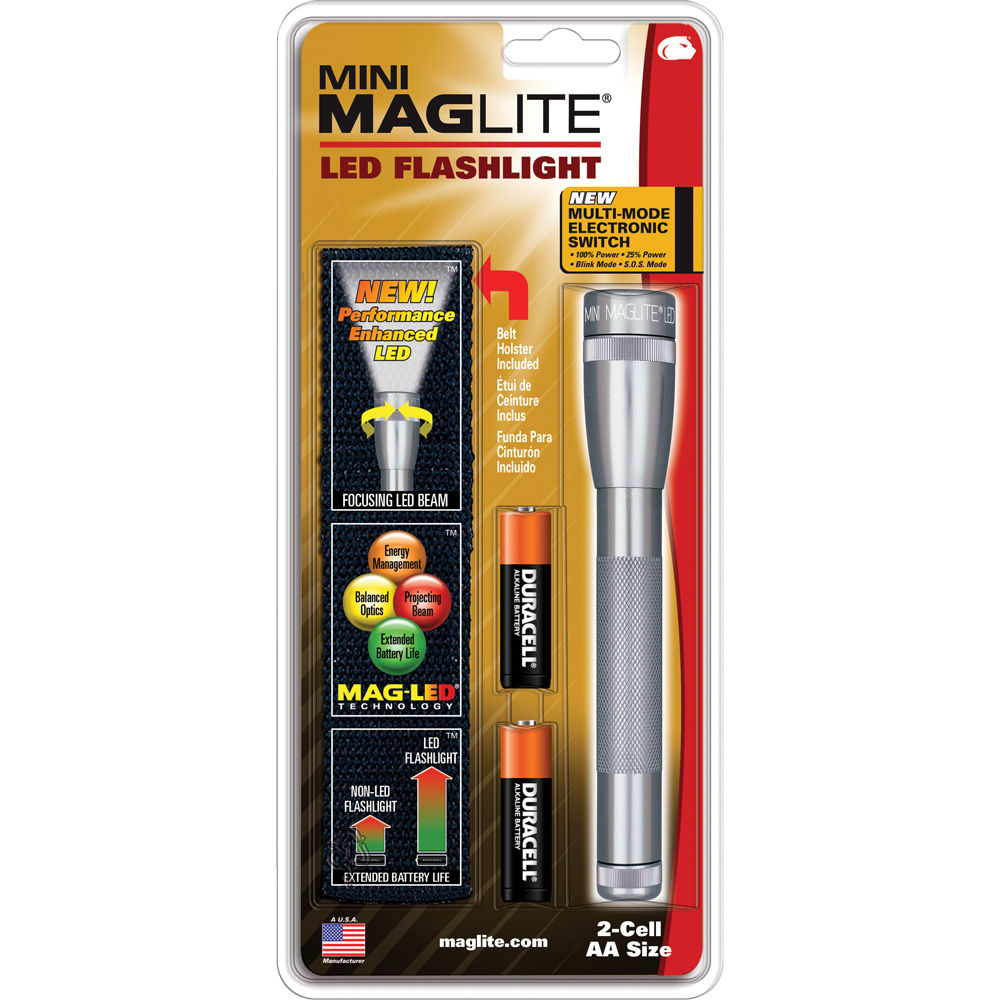 maglite mini maglite 2aa led flashlight with holster. Black Bedroom Furniture Sets. Home Design Ideas