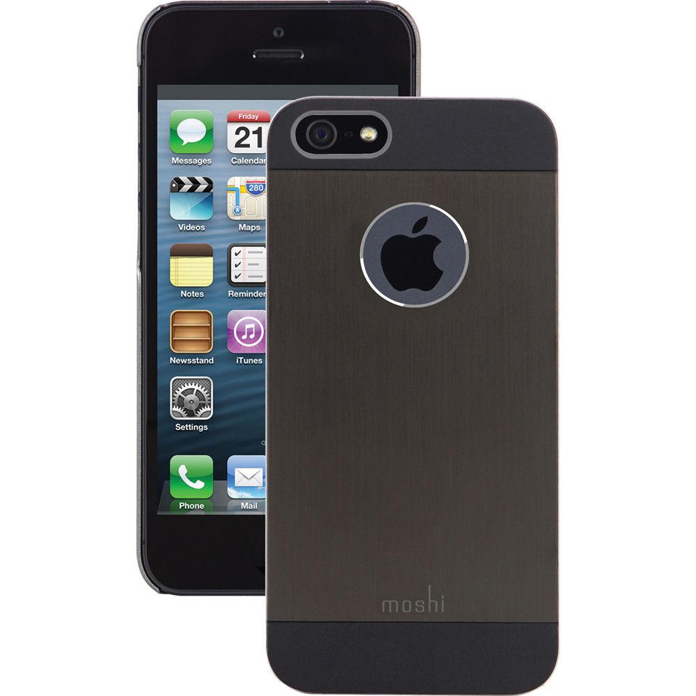 h iphone 5s moshi iglaze armour for iphone 5 5s se black 99mo061002 b h