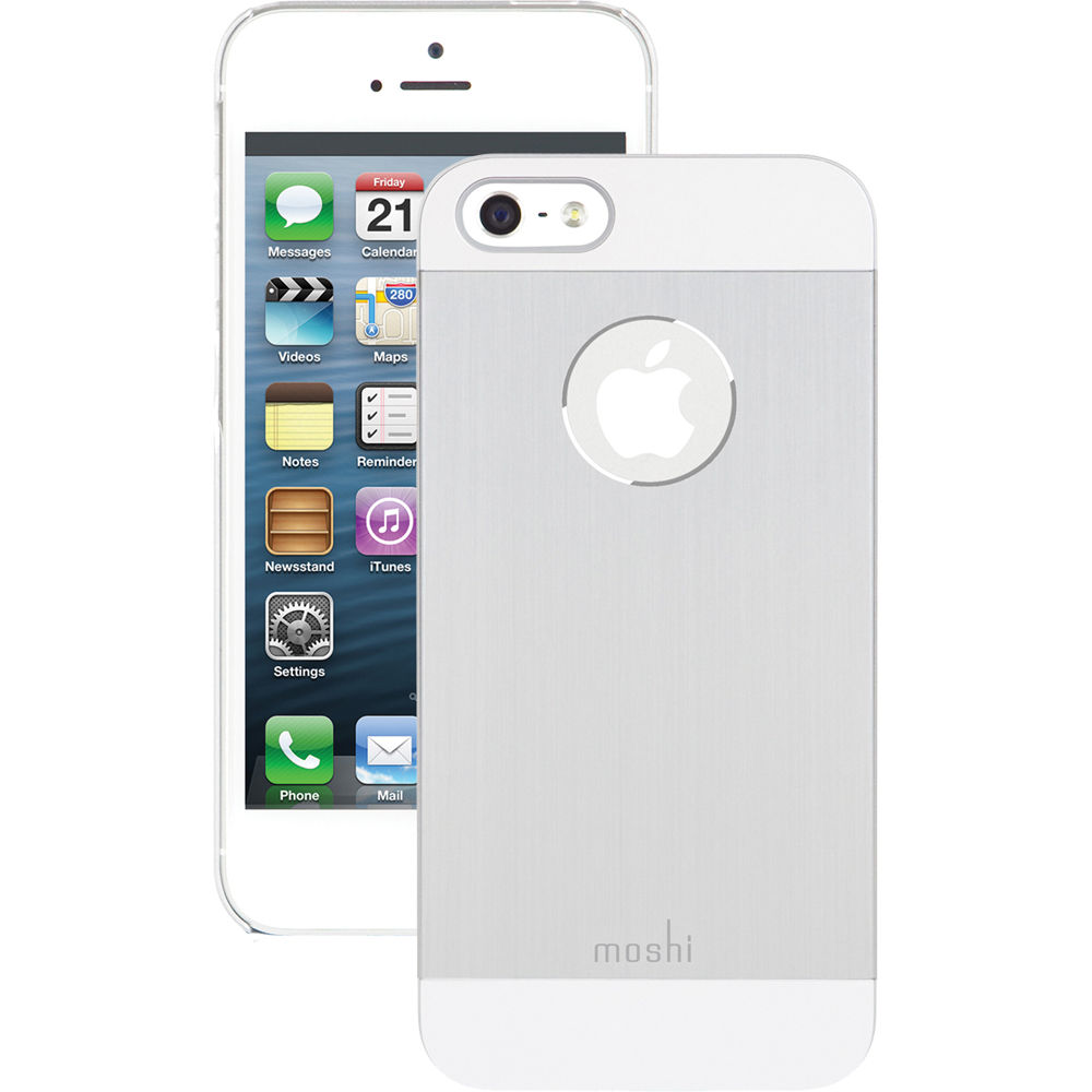 iphone 5s silver moshi iglaze armour for iphone 5 5s se silver 99mo061201 b amp h 1438