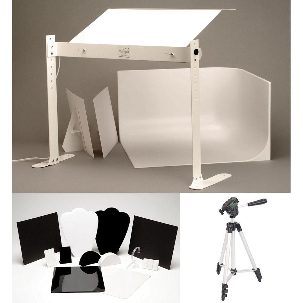 mystudio ms20j tabletop photo studio with fluorescent ms20j b h
