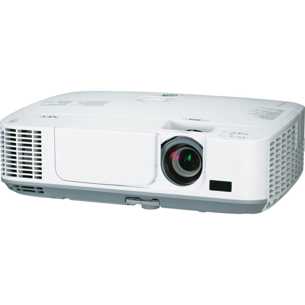 Nec np m260w portable wxga lcd projector np m260w b h photo for Portable lcd projector reviews