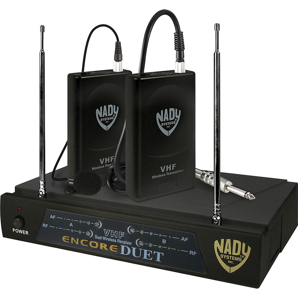 Nady Encore Duet Dual Wireless Lavalier System ENC DUET LT/O/P&R