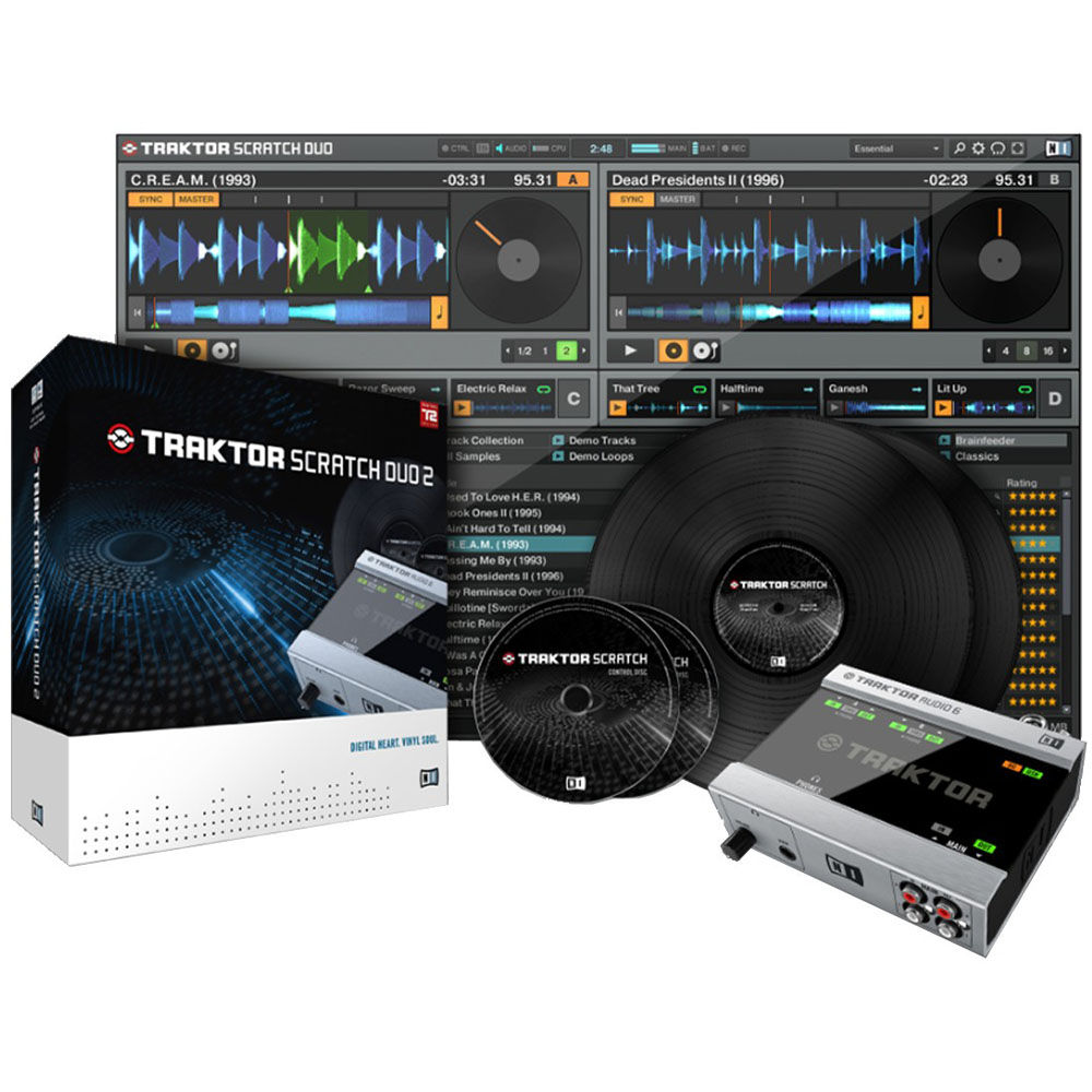 native instruments traktor scratch duo 2 professional 21104. Black Bedroom Furniture Sets. Home Design Ideas