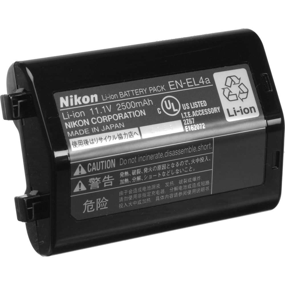 nikon en el4a rechargeable lithium ion battery 25347 b h photo. Black Bedroom Furniture Sets. Home Design Ideas