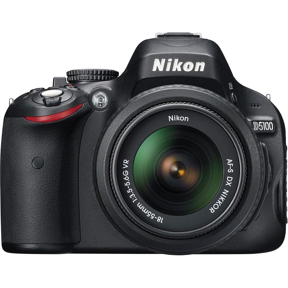 used nikon d5100 digital slr camera with 18 55mm 25478b b h rh bhphotovideo com