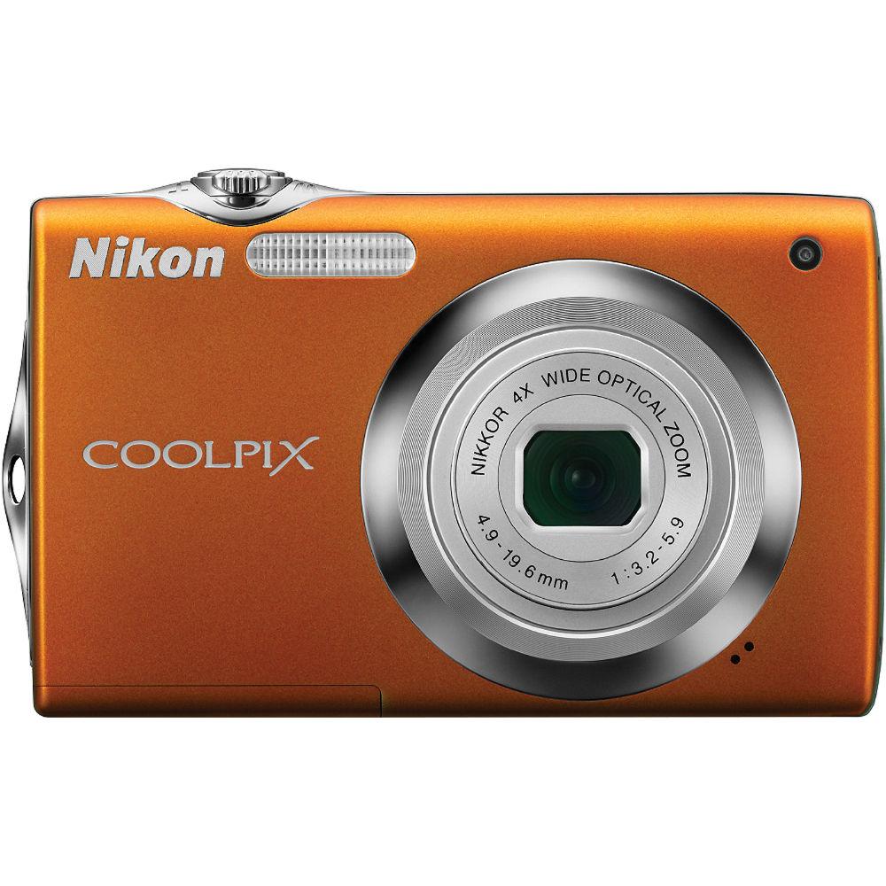 nikon nikon coolpix s3000 digital camera orange 26210 b h rh bhphotovideo com