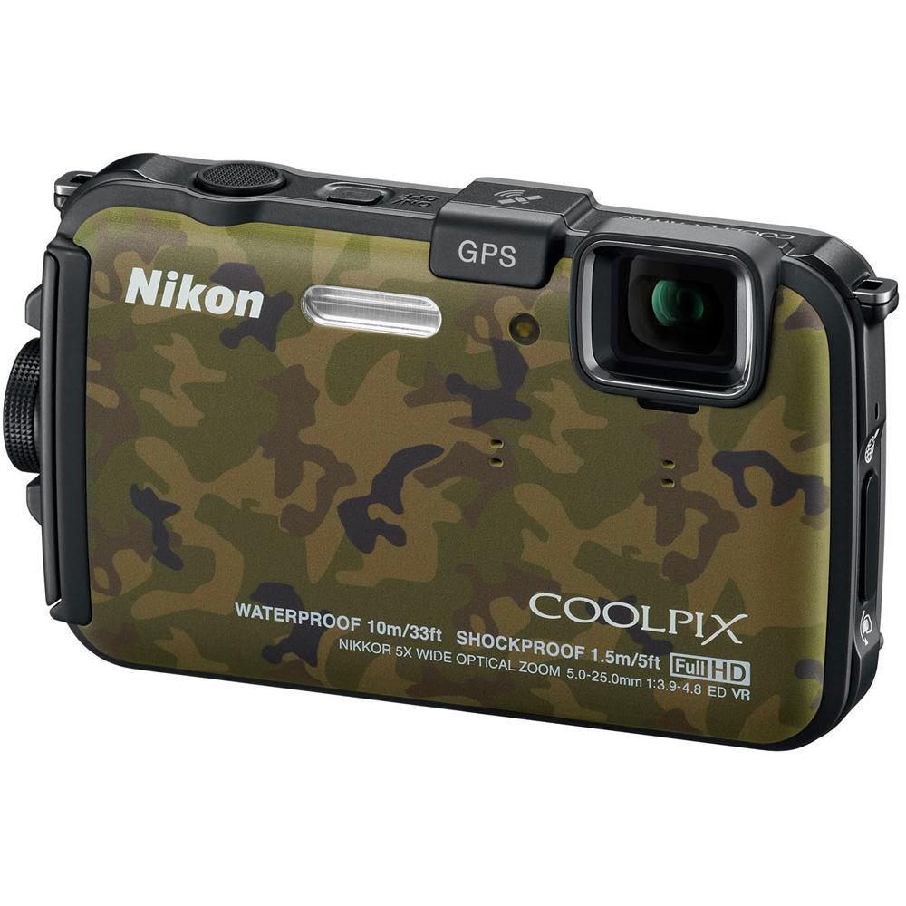 nikon coolpix aw100 waterproof digital camera camouflage 26363 rh bhphotovideo com Nikon AW100 vs Panasonic TS3 nikon coolpix aw100 user guide