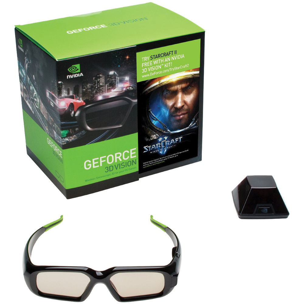 d106f71d6fb6 NVIDIA GeForce 3D Stereo Glasses Kit with Emitter with StarCraft II Trial