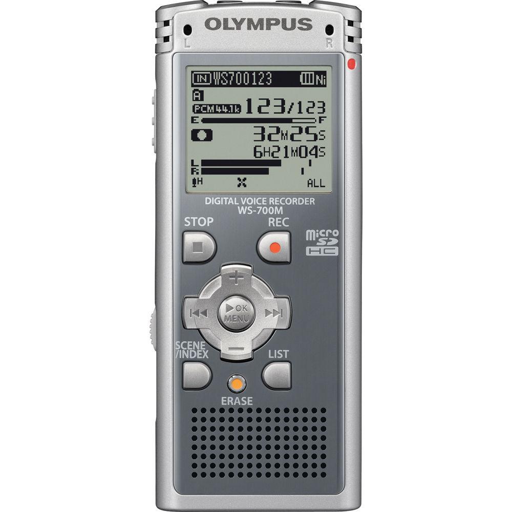olympus ws 700m digital voice recorder grey 140152 b h photo rh bhphotovideo com Olympus Voice Activated Recorder Olympus Voice Recorder VN-5000