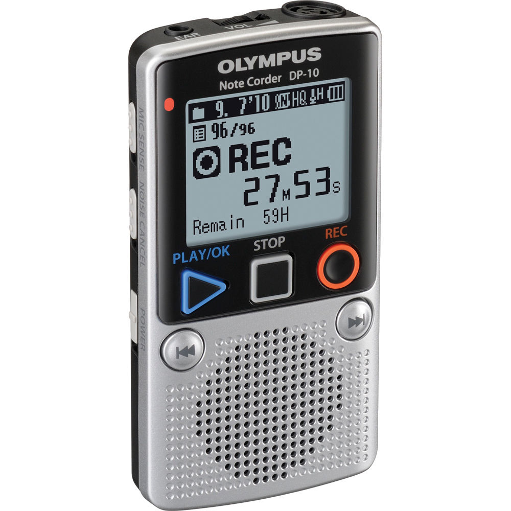 Olympus Dp 10 Digital Voice Recorder 142640 B Amp H Photo Video