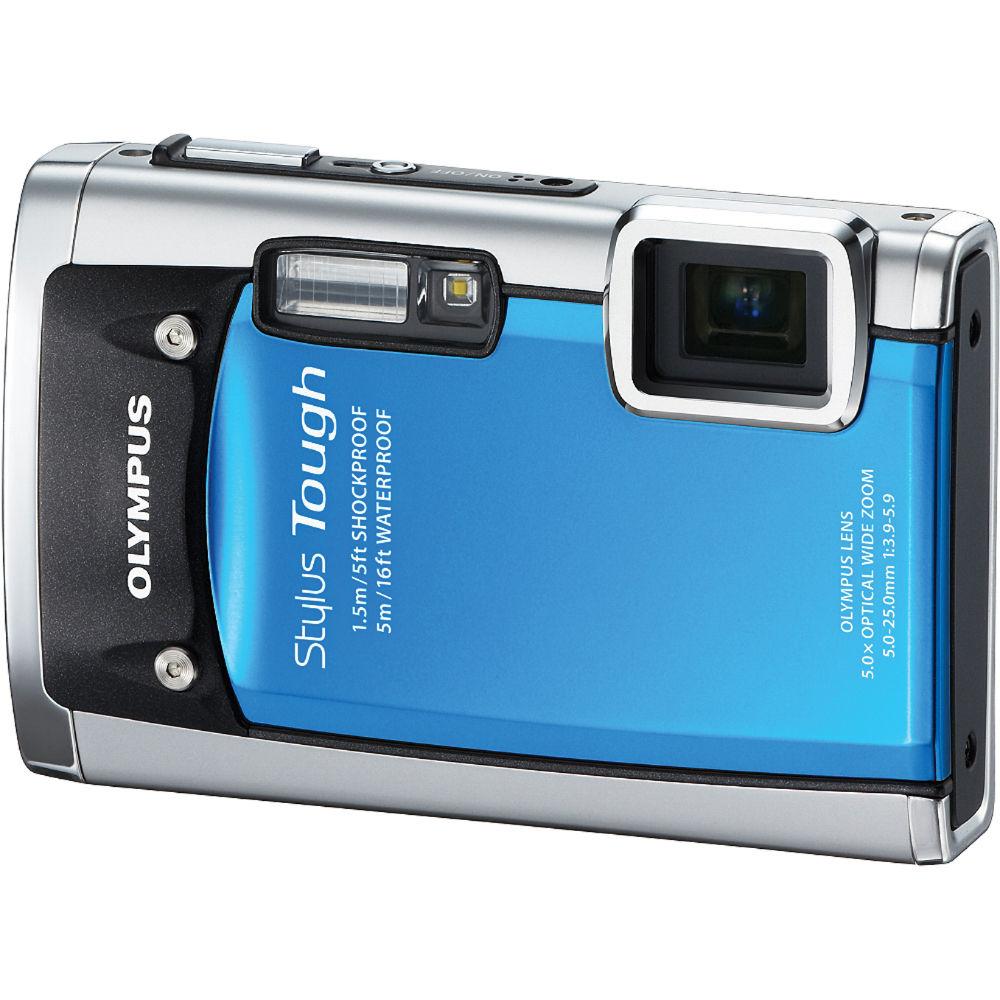 Olympus Digital Camera: Olympus Stylus Tough-6020 Digital Camera (Blue) 227640 B&H