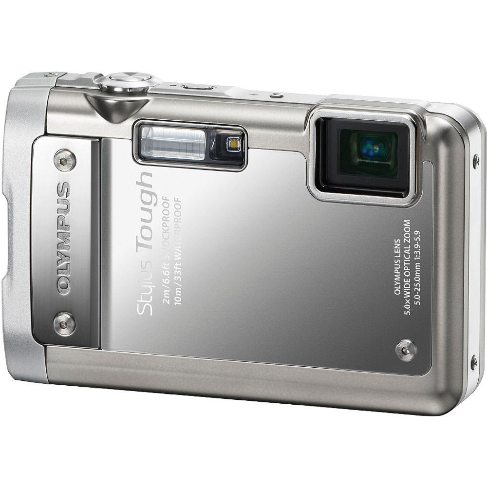 Olympus Digital Camera: Olympus Stylus Tough-8010 Digital Camera (Silver) 227660 B&H