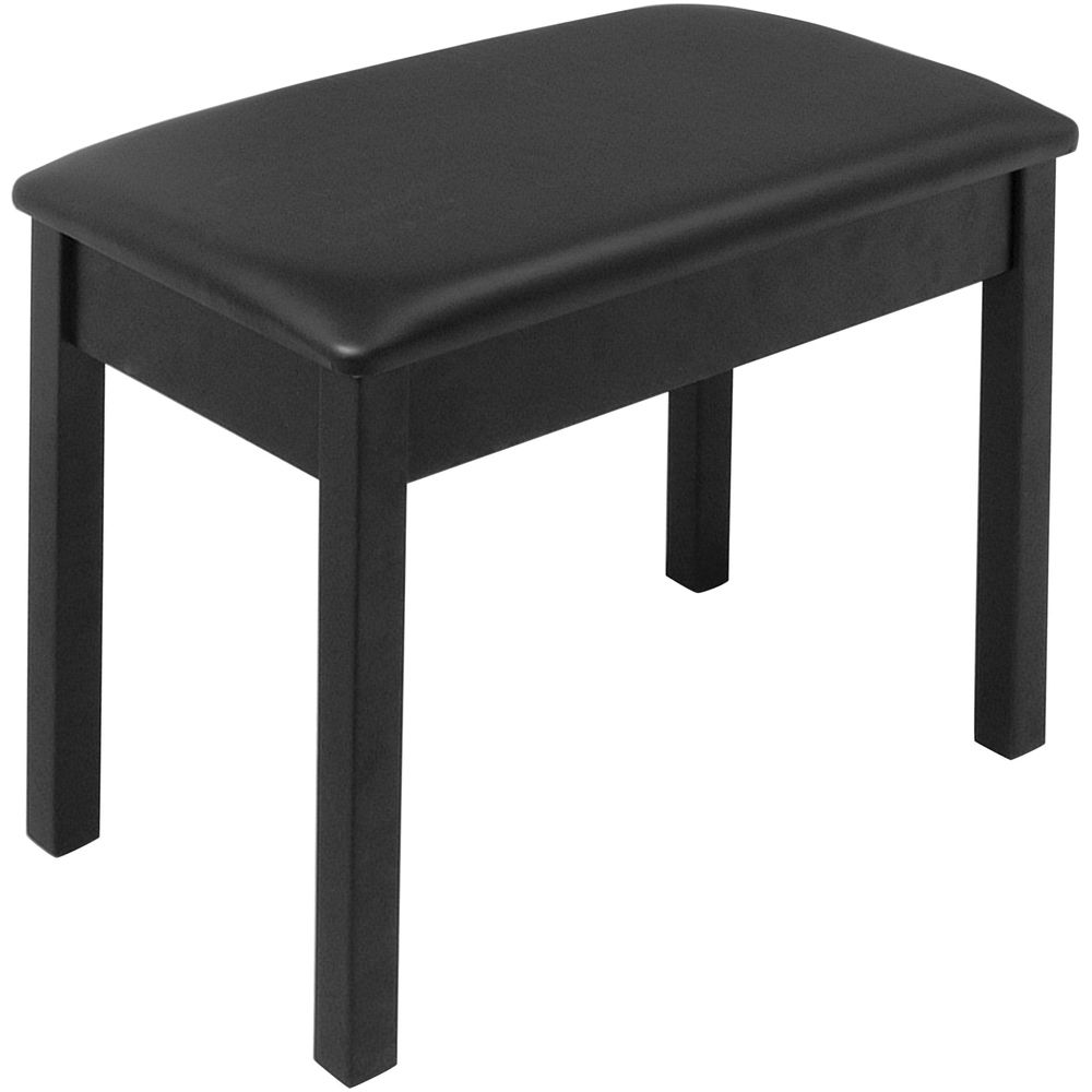 on stage kb8802b keyboard piano bench black kb8802b b h. Black Bedroom Furniture Sets. Home Design Ideas
