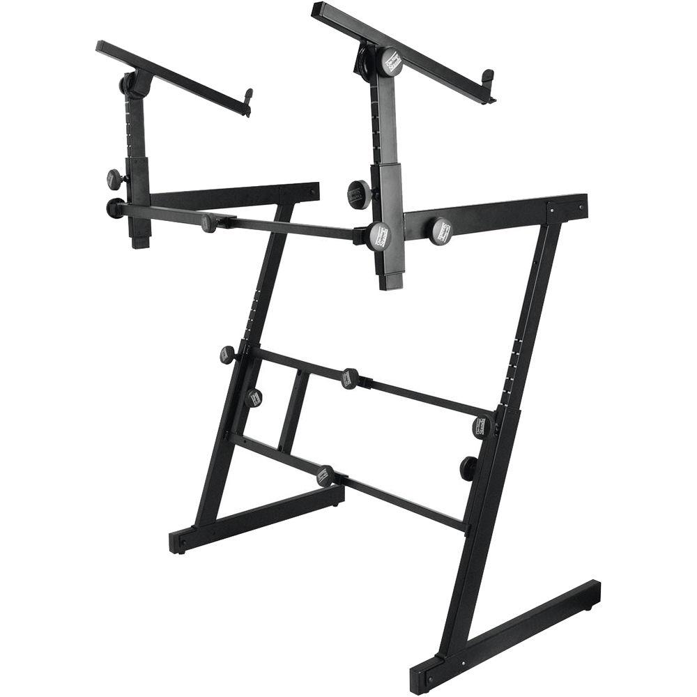 On stage ks7365ej folding z two tier keyboard stand ks7365 ej for Stand 2 b