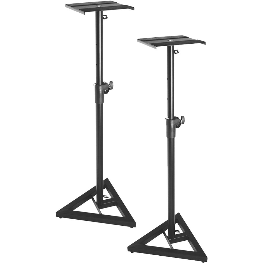 on stage sms6000 p adjustable studio monitor stand pair. Black Bedroom Furniture Sets. Home Design Ideas