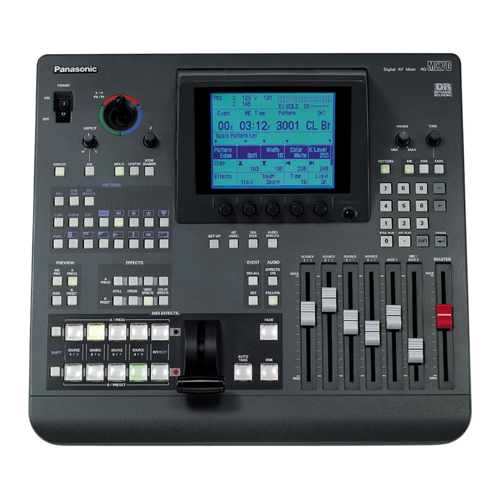 panasonic ag mx70 digital audio video mixer ag mx70 b h photo. Black Bedroom Furniture Sets. Home Design Ideas