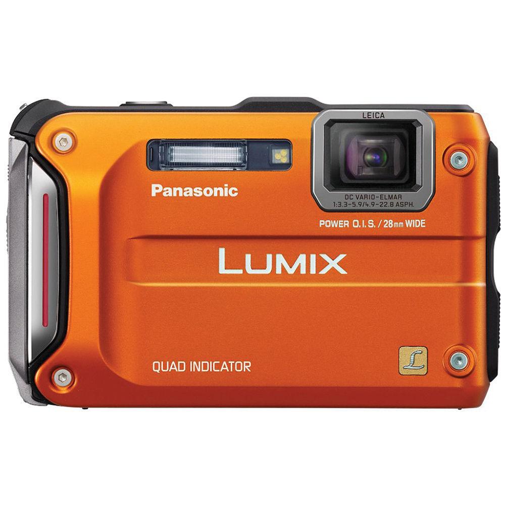 panasonic lumix dmc ts4 digital camera orange dmc ts4d b h rh bhphotovideo com