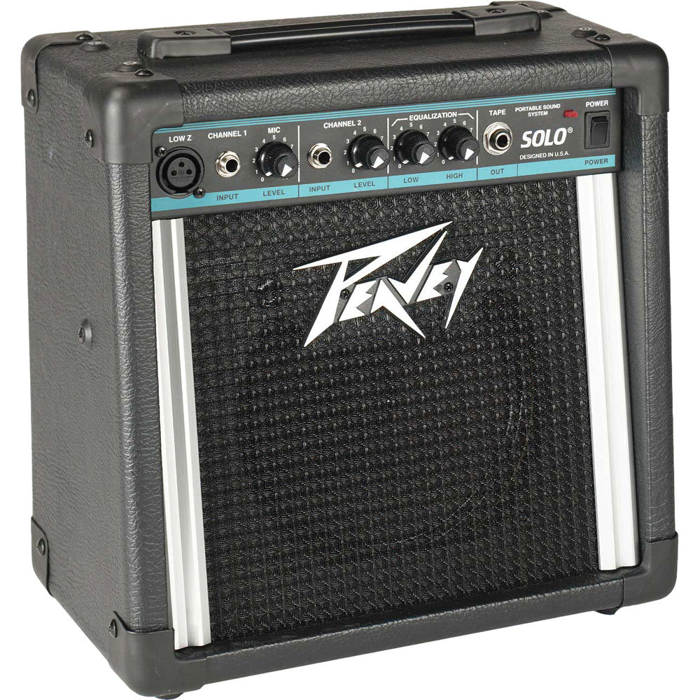 peavey solo portable battery powered pa amplifier 00476100 b h. Black Bedroom Furniture Sets. Home Design Ideas