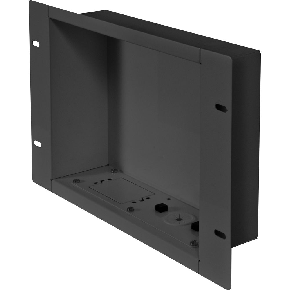 Peerless AV IBA2 In Wall Cable Management And Storage Box (Gloss Black)