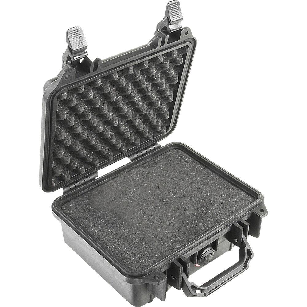 Pelican 1200 Case With Foam Black 1200 000 110 B Amp H Photo