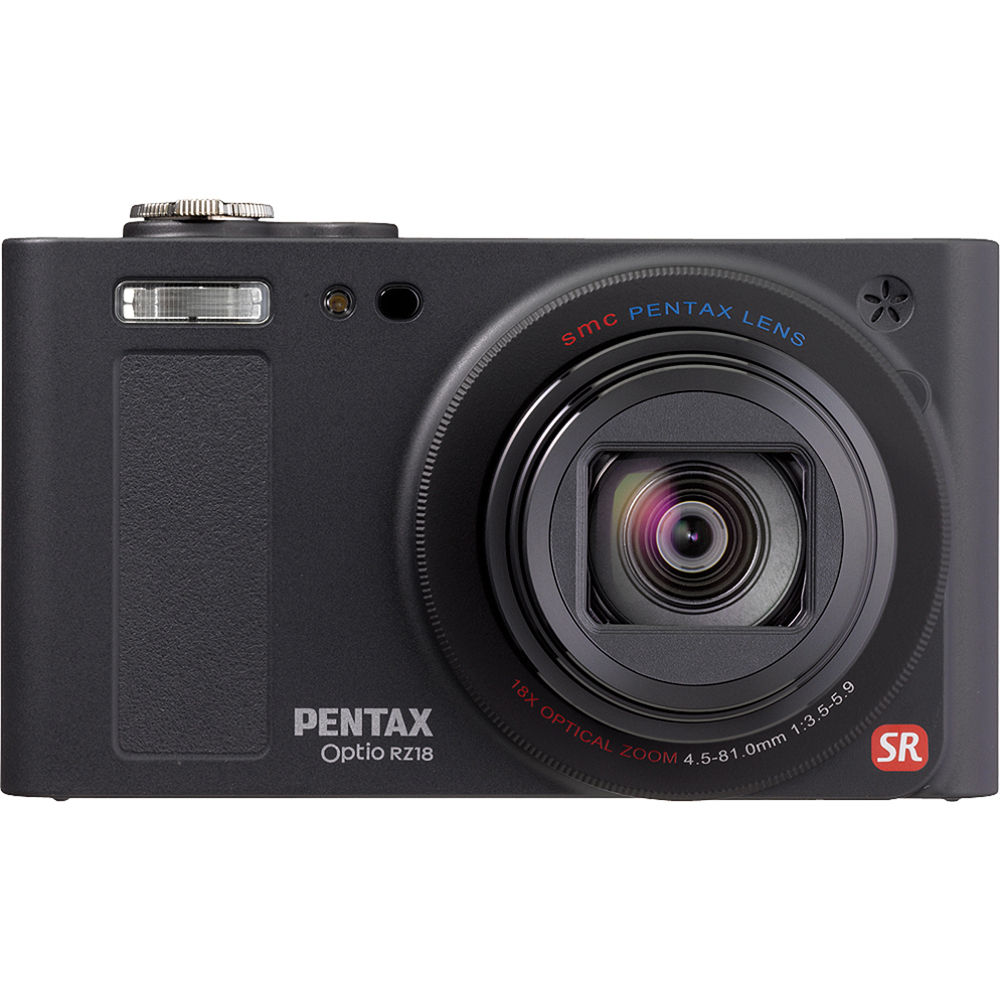pentax optio rz 18 digital camera black 14161 b h photo video rh bhphotovideo com