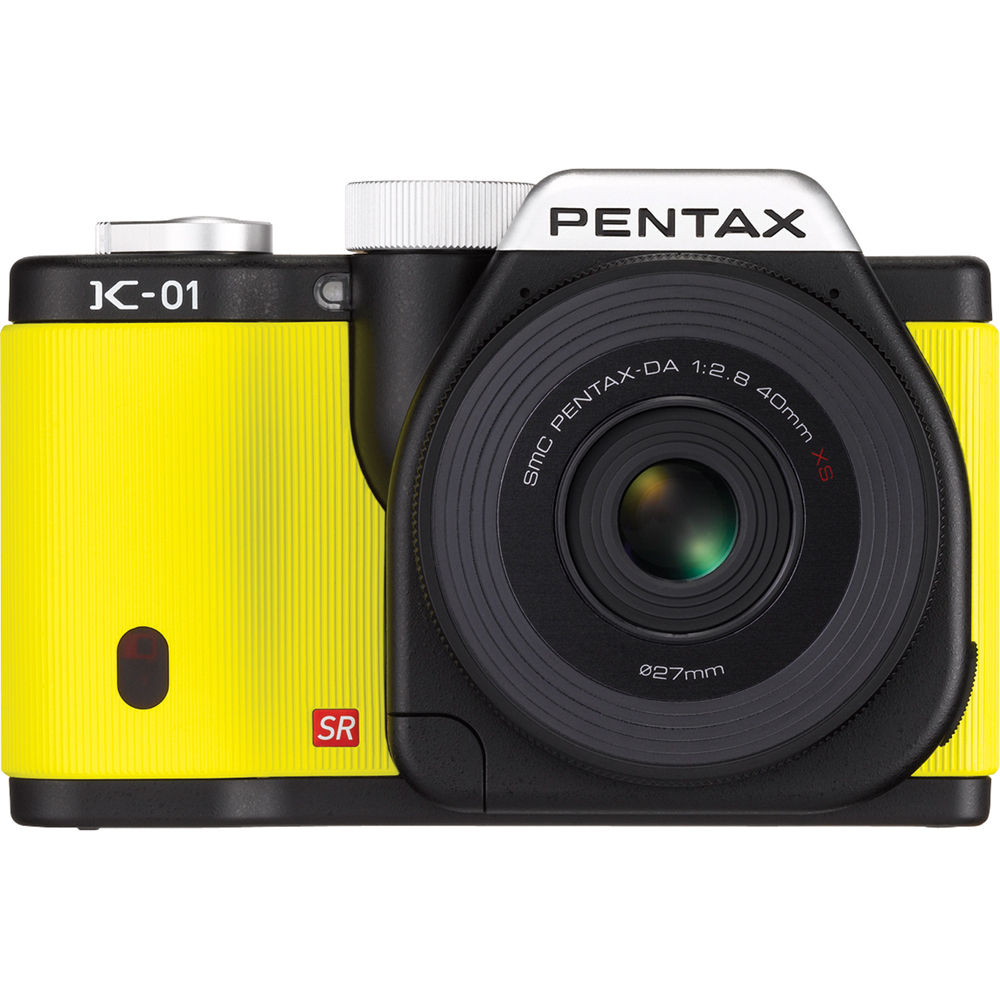 Pentax K-01 Digital Camera With 40mm Lens (Yellow) 15342 B&H