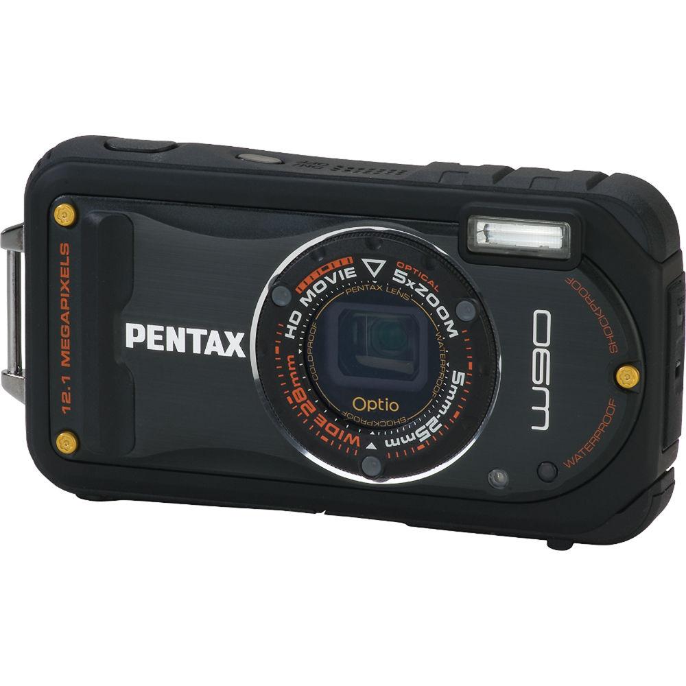 Pentax Optio W90 Compact Digital Camera Black 16411 B Amp H