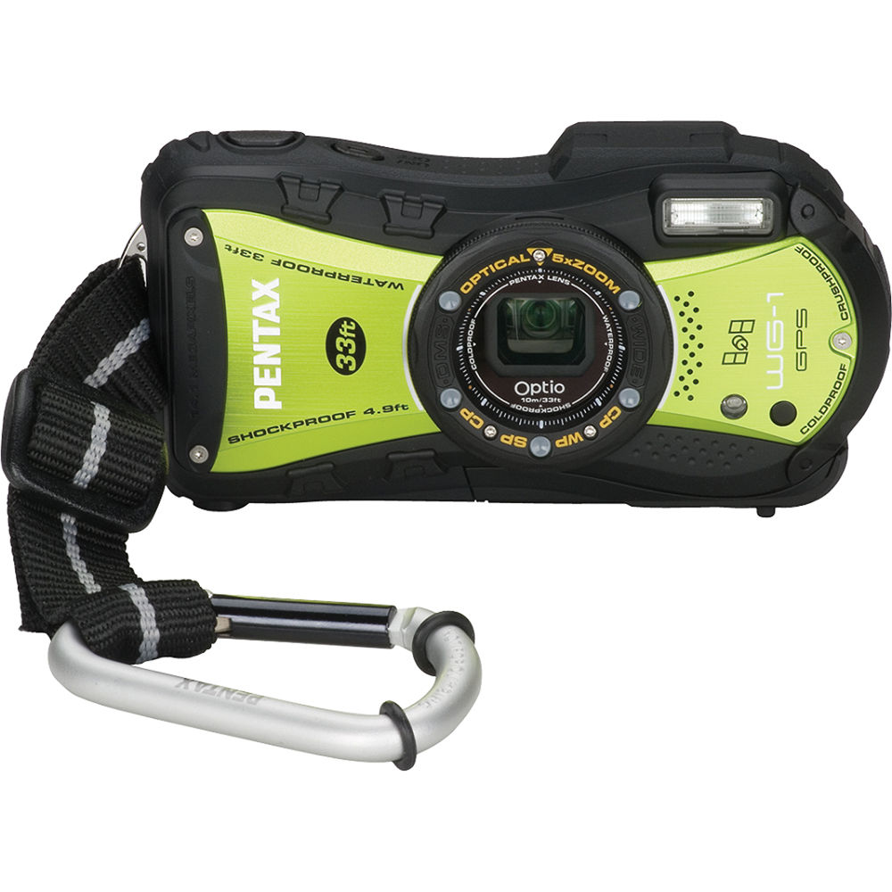 Pentax Optio Wg  Gps Digital Camera Yellowgreen