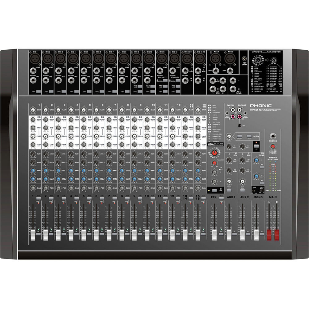 Phonic Impact 124x 16 Channel Mic Line Mixer Bh Electronics Circuits For You With Dfx