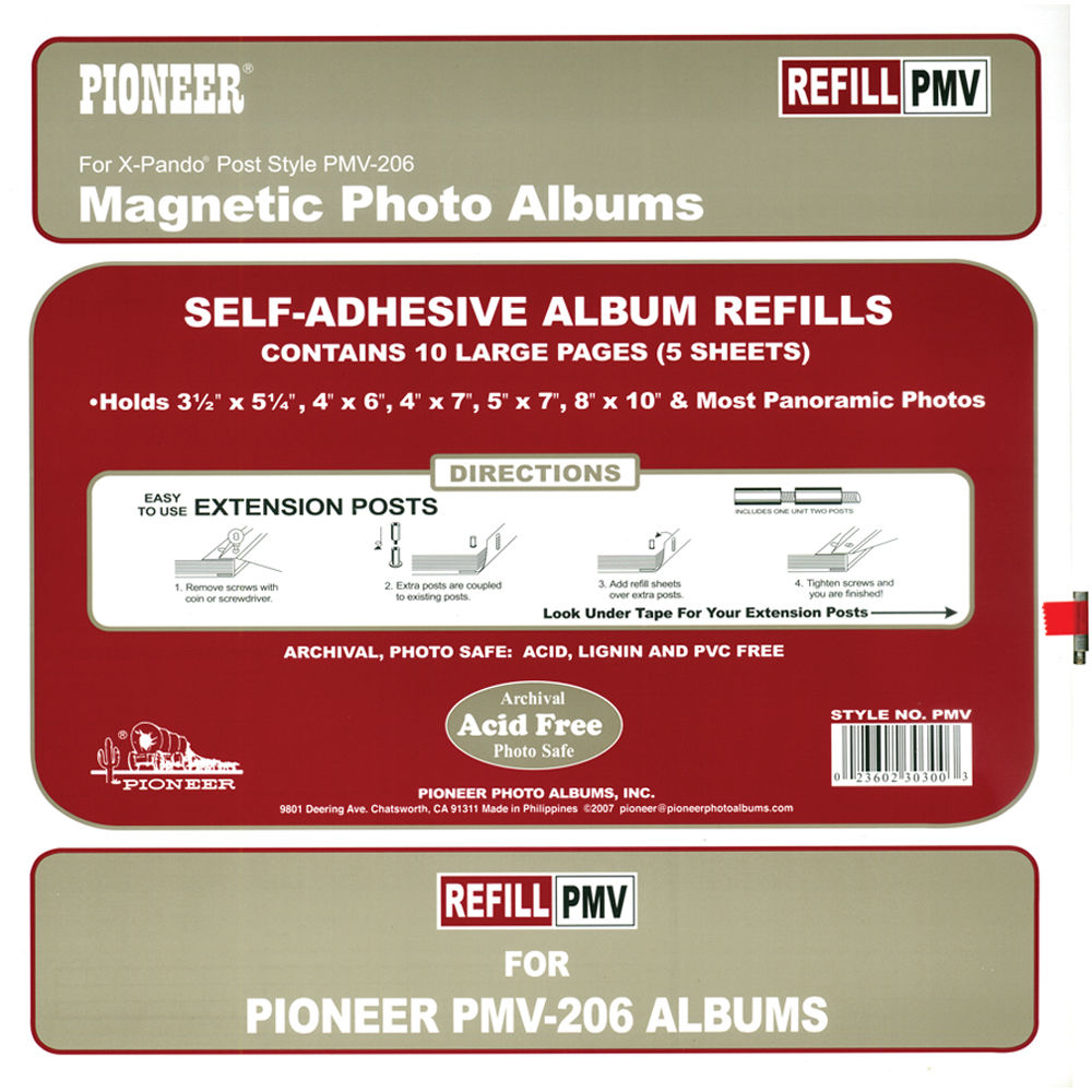 Pioneer Photo Albums Refill Pages For The Pmv 206 Photo Pmv Bh