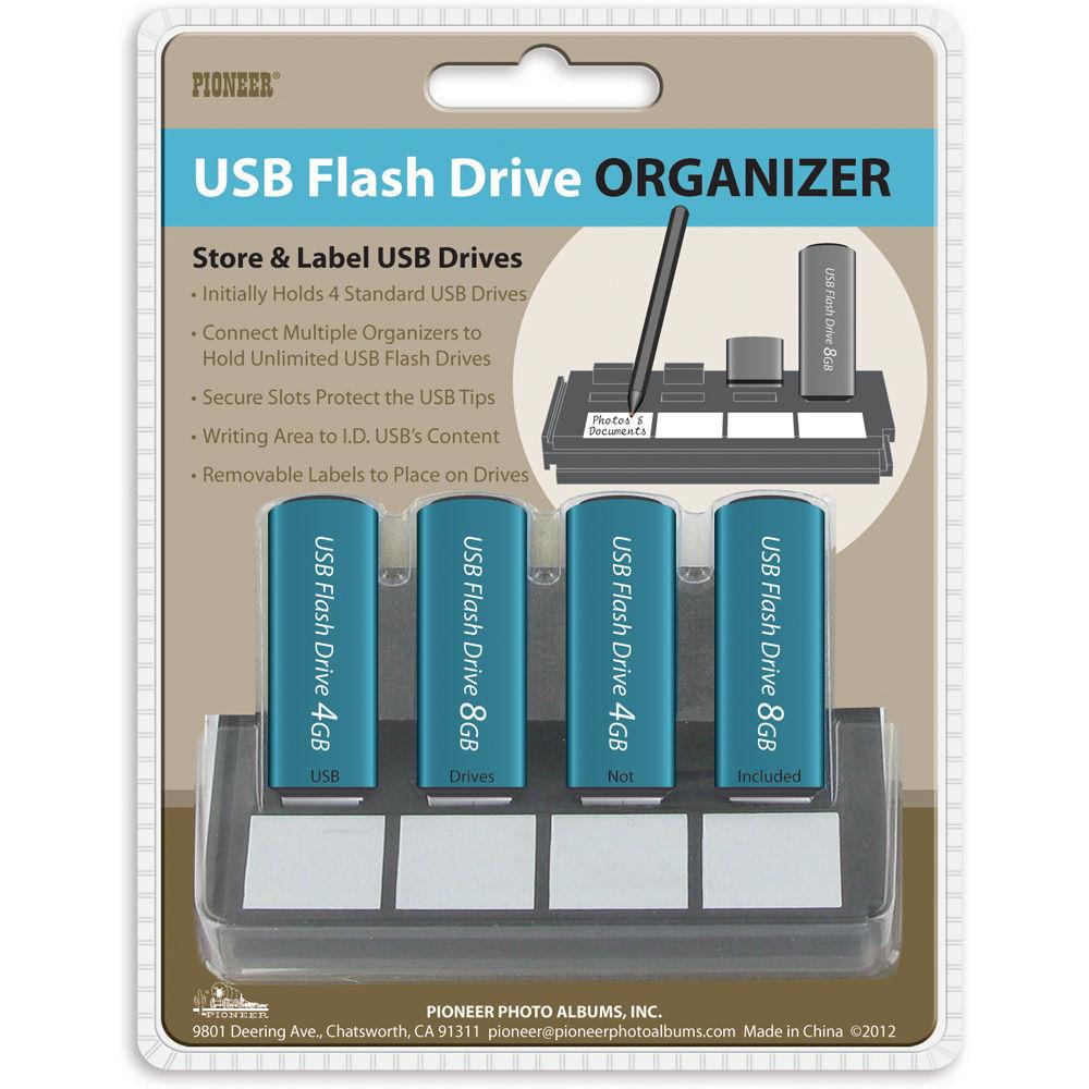 pioneer photo albums usb flash drive organizer usb 4 b h photo. Black Bedroom Furniture Sets. Home Design Ideas