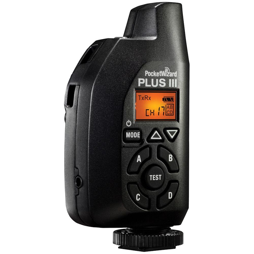 PocketWizard Plus III Transceiver (Black) PW-PLUS3-FCC B&H Photo