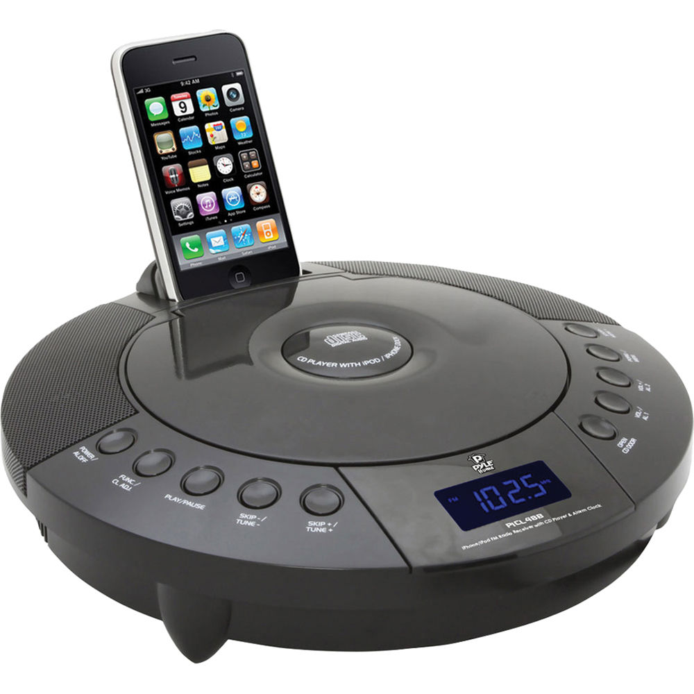pyle home iphone ipod fm radio receiver with cd player picl48b. Black Bedroom Furniture Sets. Home Design Ideas