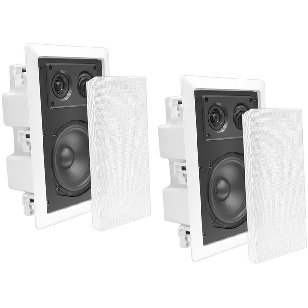 Pyle pro pdiw67 6 5 2 way in wall speaker pair pdiw67 b h for Installing in wall speakers on exterior wall