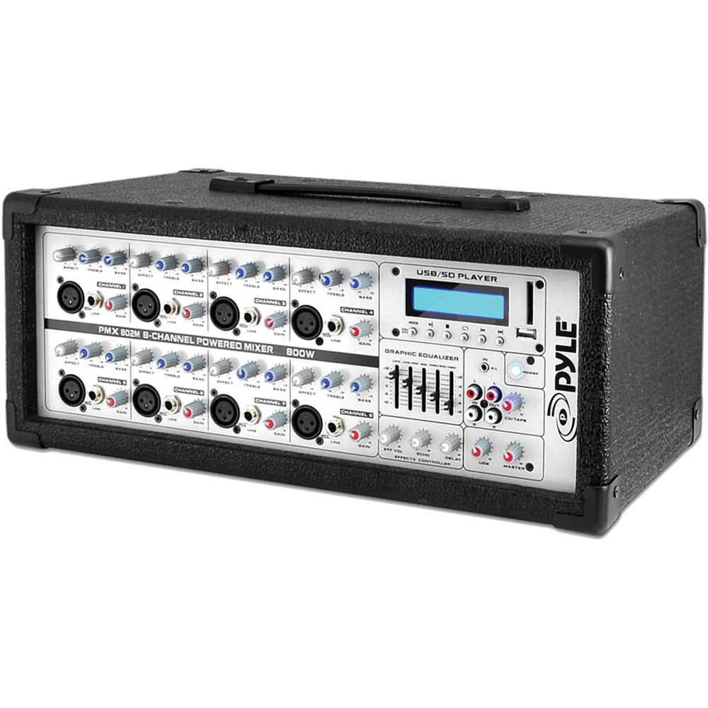 Pyle Pro Pmx802m 800w 8 Amplifier